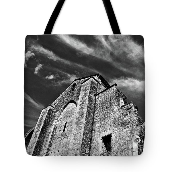 Tote Bag featuring the photograph French Middle Age Kisses The Dark Sky by Silva Wischeropp