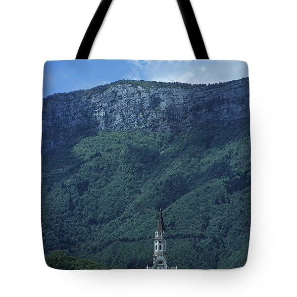 French Mountain Church Tote Bag