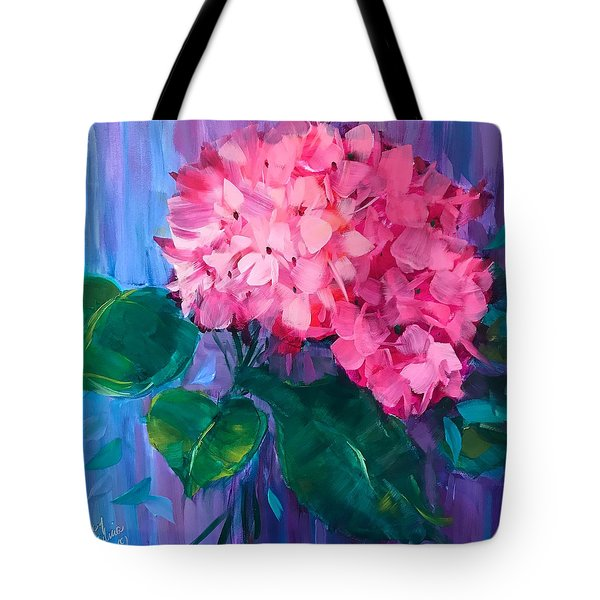 French Pink Hydrangea Tote Bag