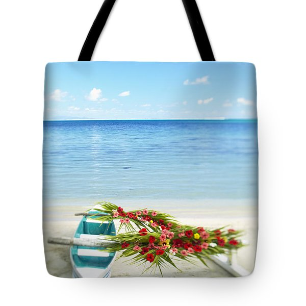 French Polynesia, Huahine Tote Bag by Kyle Rothenborg - Printscapes