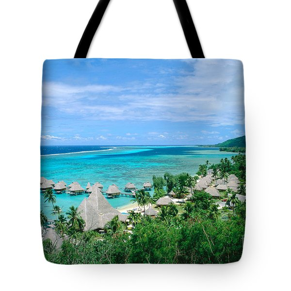 French Polynesia, Moorea Tote Bag by Kyle Rothenborg - Printscapes