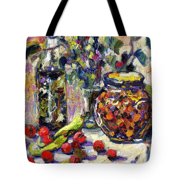 Tote Bag featuring the painting French Provence Cooking Still Life by Ginette Callaway