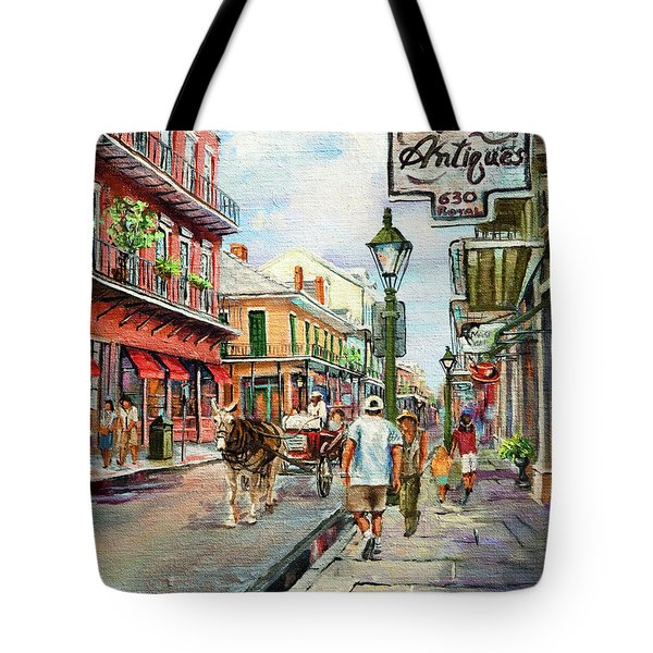 French Quarter Antiques Tote Bag