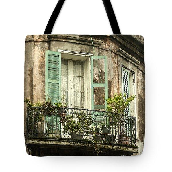 French Quarter Balcony Tote Bag