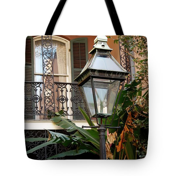 Tote Bag featuring the photograph French Quarter Courtyard by KG Thienemann