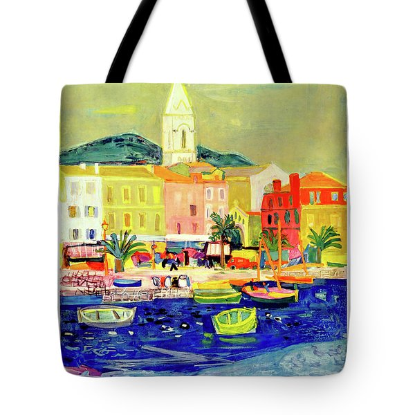 French Riviera, Fishing Boats Tote Bag