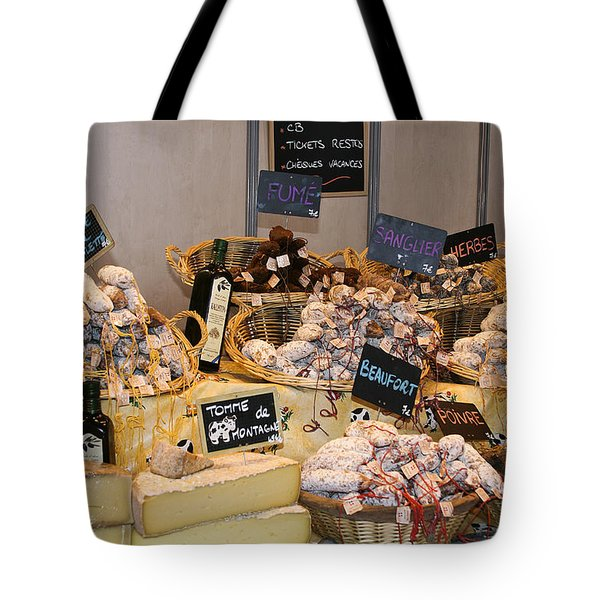 French Sausage And Cheese Tote Bag