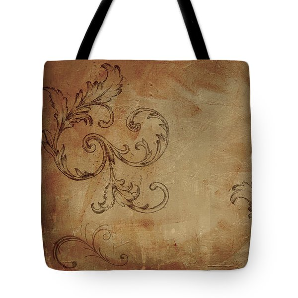 French Scrolls Tote Bag