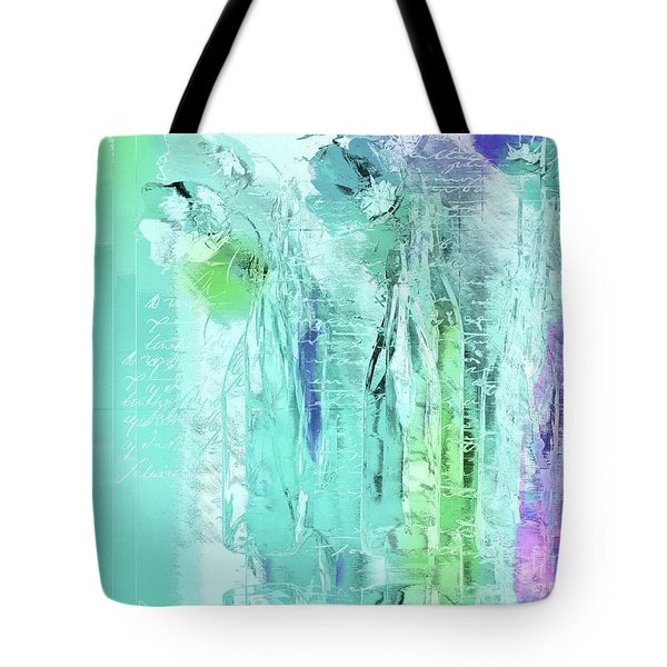 Tote Bag featuring the digital art French Still Life - 14b by Variance Collections