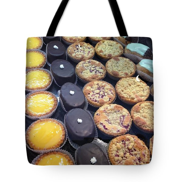 Tote Bag featuring the photograph French Tarts by Therese Alcorn
