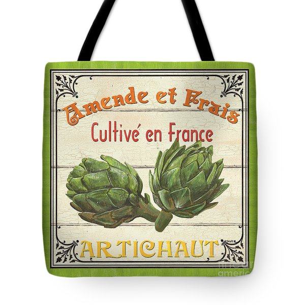 French Vegetable Sign 2 Tote Bag by Debbie DeWitt