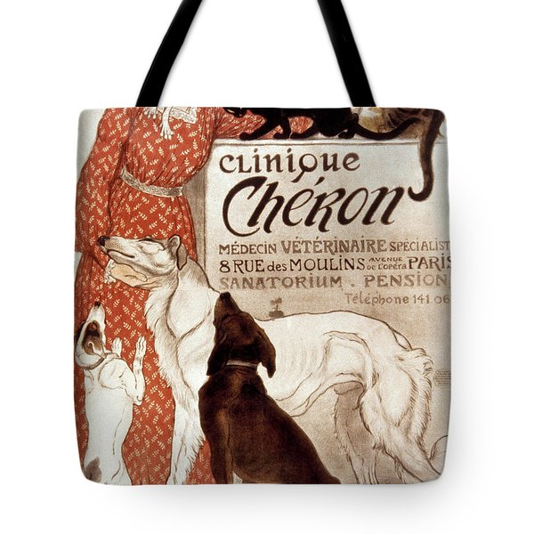 French Veterinary Clinic Tote Bag