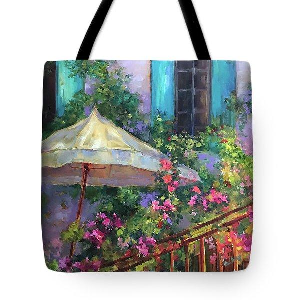 French Violet Garden Sanctuary Tote Bag