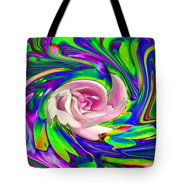 French Wild Rose Tote Bag by Rose Guay