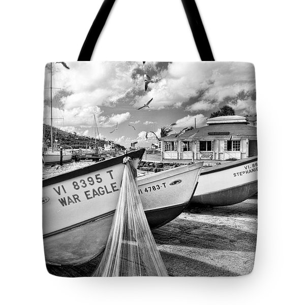 Frenchtown Fishing Boats 1 Tote Bag