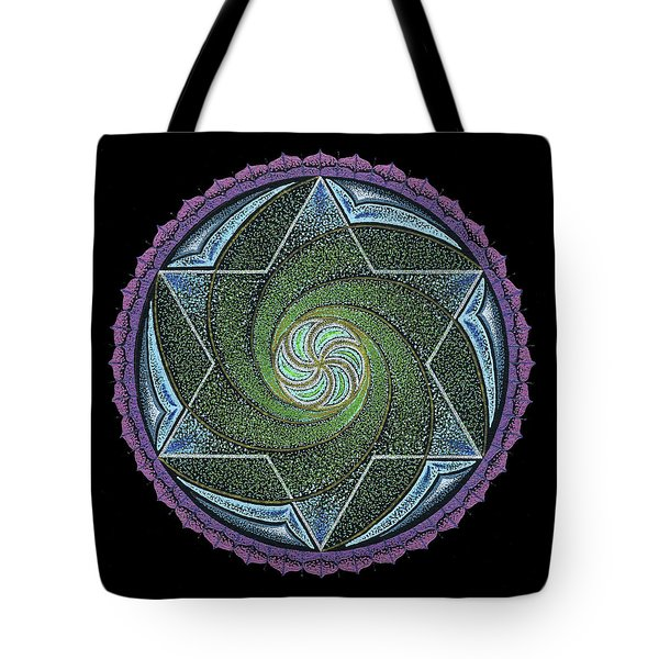 Tote Bag featuring the painting Frequency Harmonizer by Keiko Katsuta