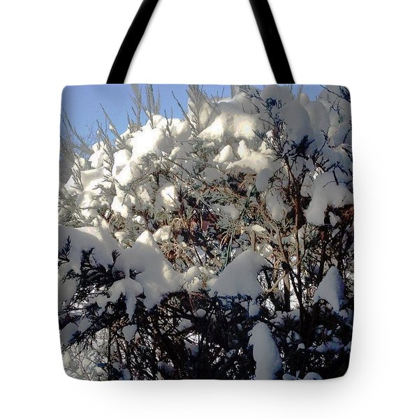 Tote Bag featuring the photograph Fresc Snow by Vicky Tarcau