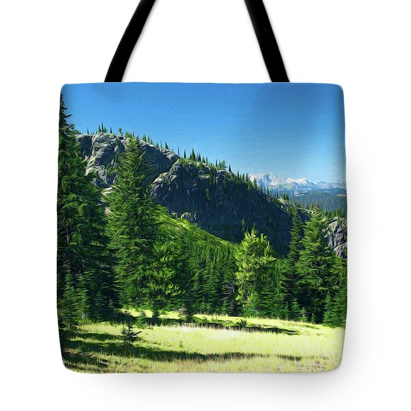 Tote Bag featuring the photograph Fresh Air In The Mountains Photo Art by Sharon Talson