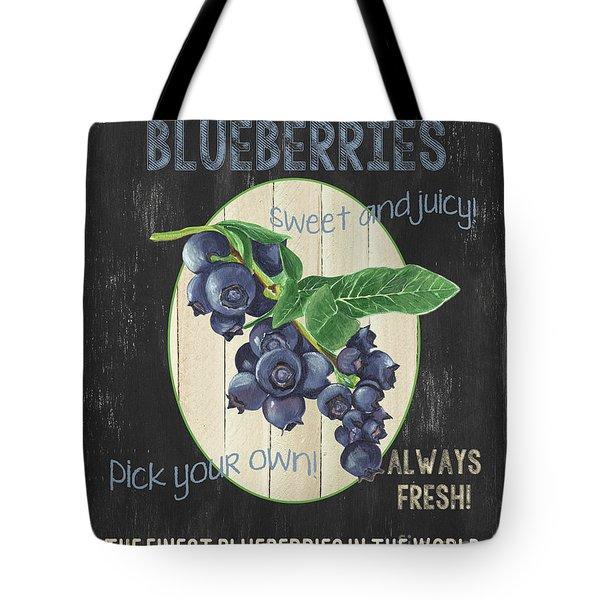 Tote Bag featuring the painting Fresh Berries 1 by Debbie DeWitt