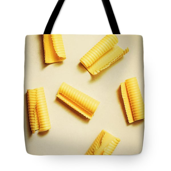 Fresh Butter Curls On Table Tote Bag