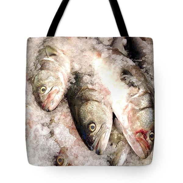 Fresh Catch Haymarket  Boston Massachusetts Tote Bag