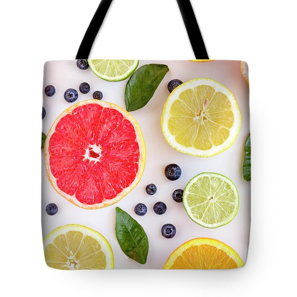 Fresh Citrus Fruits Tote Bag