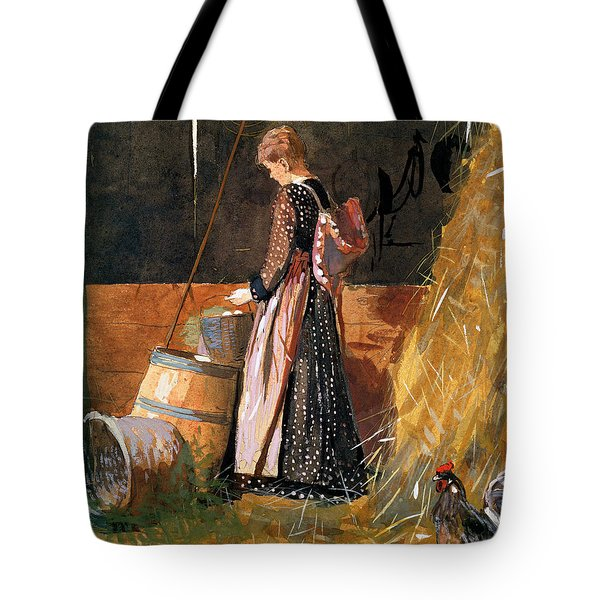 Fresh Eggs Tote Bag by Winslow Homer