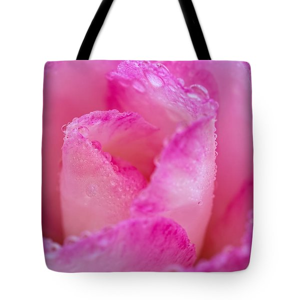 Fresh Flower Covered In Droplets Tote Bag