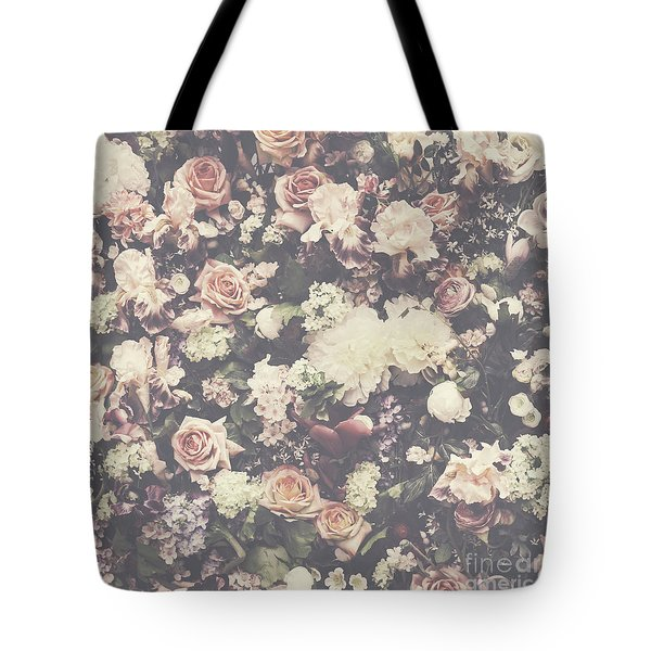 Fresh Flower Pattern Background Tote Bag