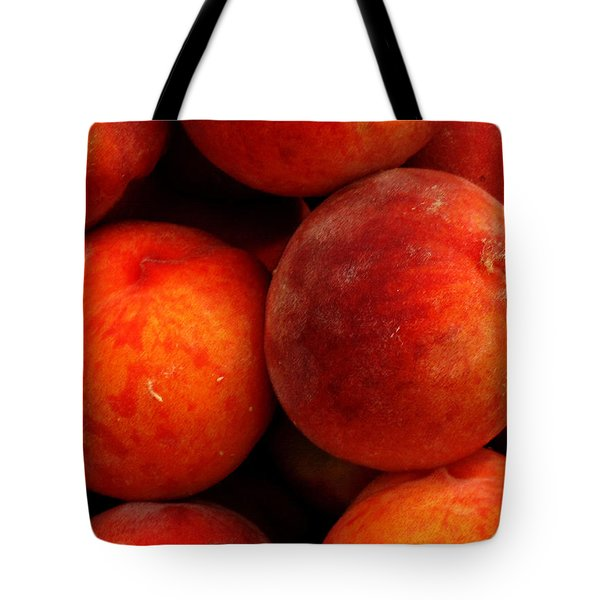 Fresh Fuzzy Peaches Tote Bag