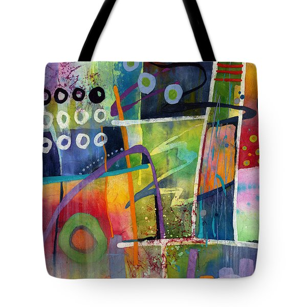 Tote Bag featuring the painting Fresh Jazz by Hailey E Herrera