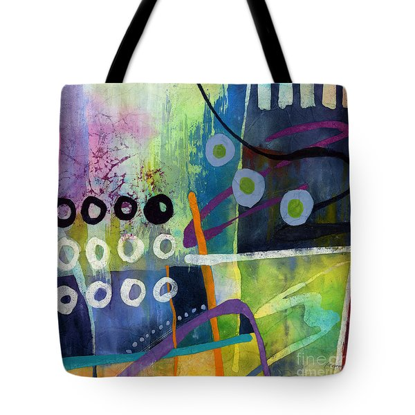 Tote Bag featuring the painting Fresh Jazz In A Square 2 by Hailey E Herrera