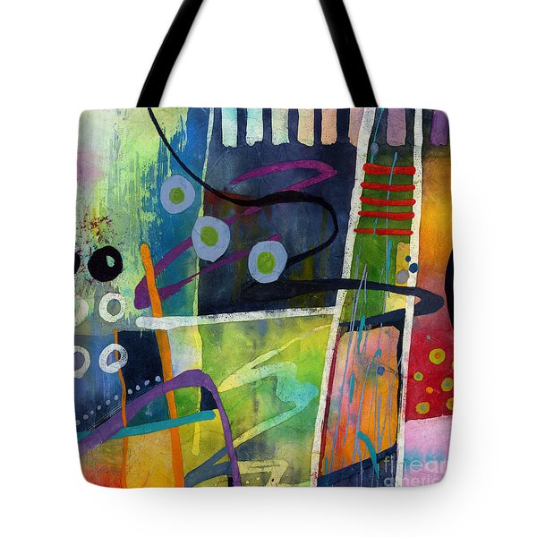 Tote Bag featuring the painting Fresh Jazz In A Square by Hailey E Herrera
