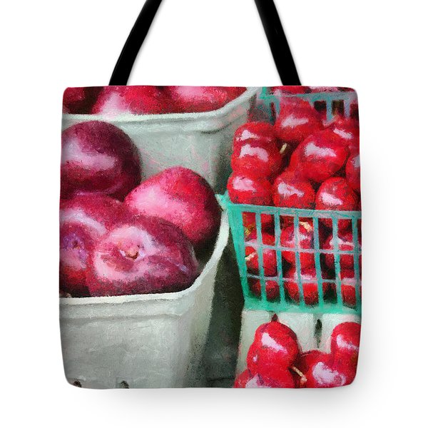 Tote Bag featuring the painting Fresh Market Fruit by Jeffrey Kolker