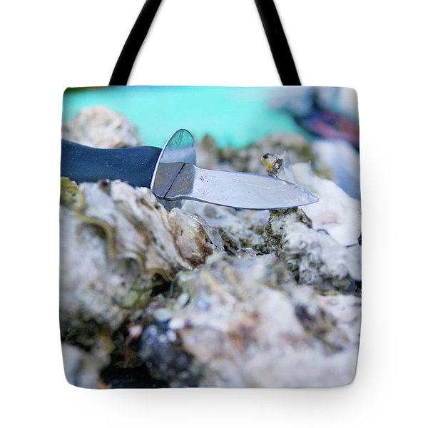 Tote Bag featuring the photograph Fresh Oysters by Erin Kohlenberg