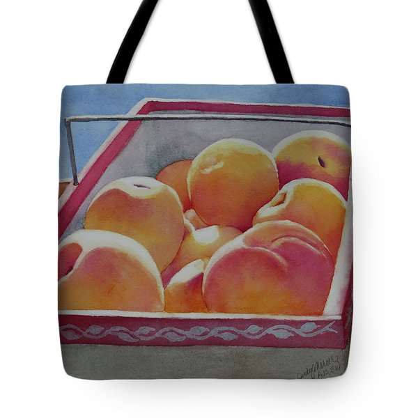 Fresh Peaches Tote Bag