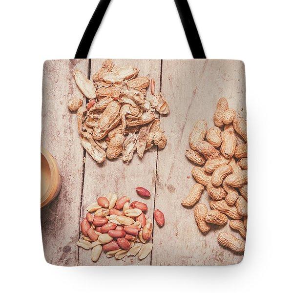 Fresh Peanuts, Shells, Raw Nuts And Peanut Butter Tote Bag