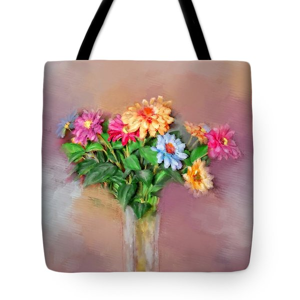 Tote Bag featuring the photograph Fresh Picked Flowers For You by Mary Timman