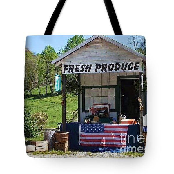 Fresh Produce Tote Bag by Donna Dixon