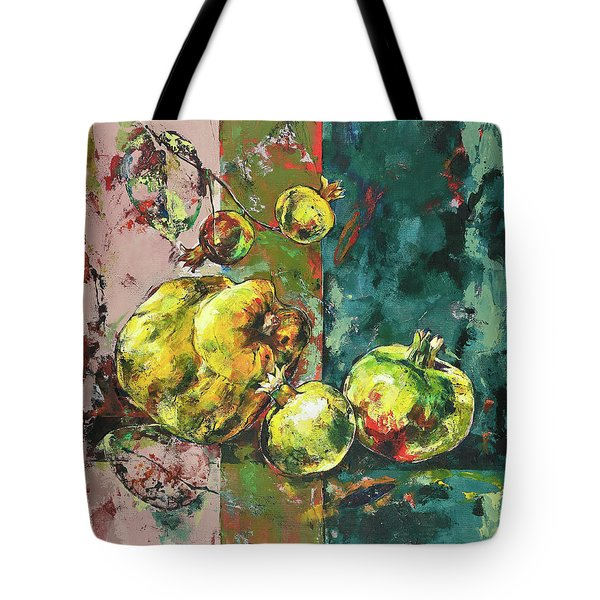 Fresh Quince And Pomegranate Tote Bag