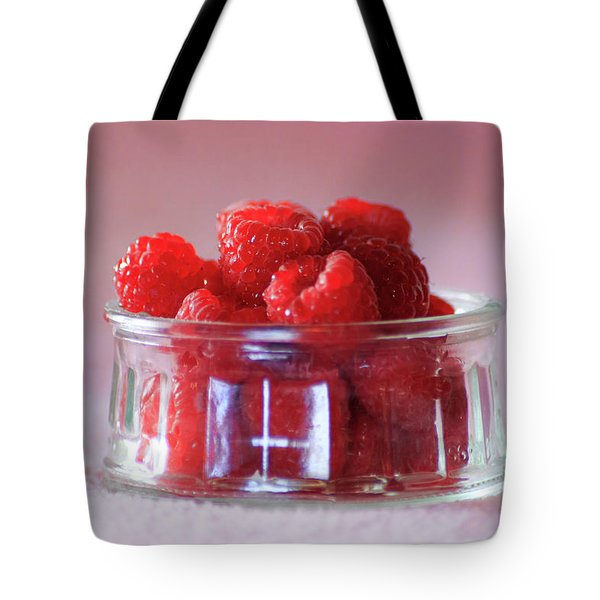 Tote Bag featuring the photograph Fresh Raspberries by Geoffrey C Lewis