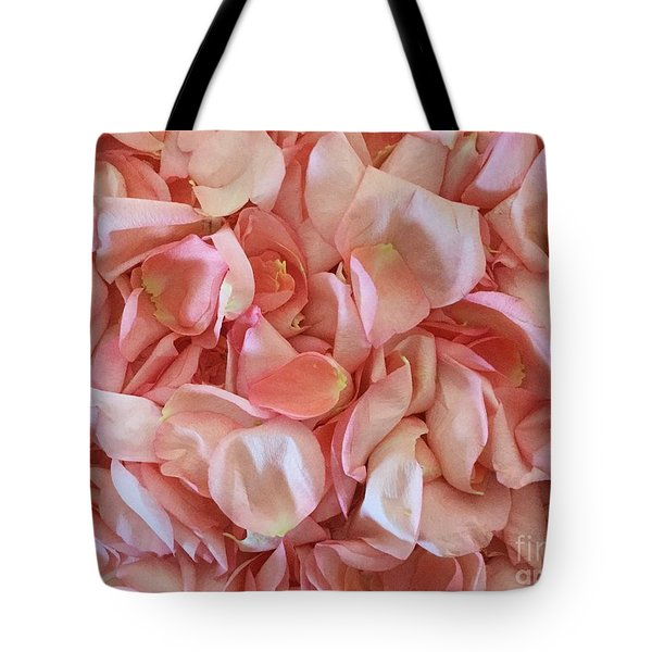 Fresh Rose Petals Tote Bag