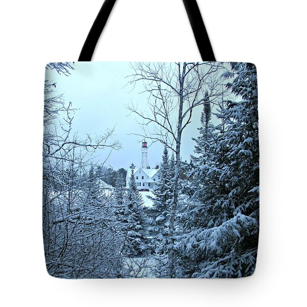 Tote Bag featuring the photograph Fresh Snow by Greta Larson Photography