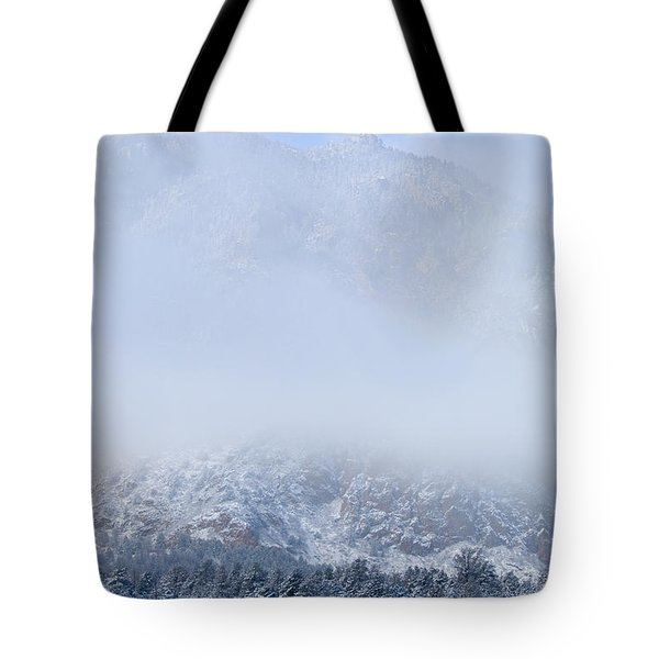 Fresh Snow In Cheyenne Mountain State Park Tote Bag