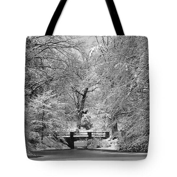 Fresh Snowfall At Mount Auburn Cemetery Tote Bag