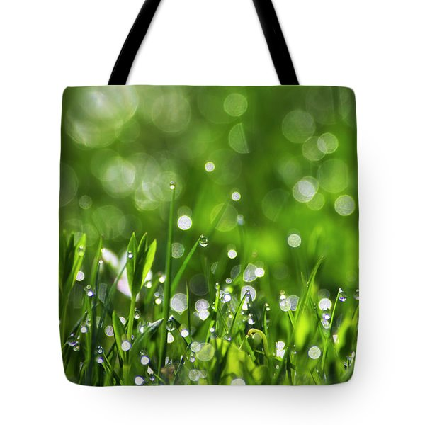 Fresh Spring Morning Dew Tote Bag by Christina Rollo