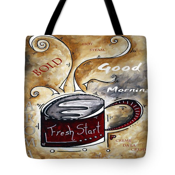 Fresh Start Original Painting Madart Tote Bag by Megan Duncanson