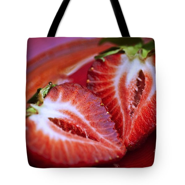 Fresh Strawberries Tote Bag by Ray Laskowitz - Printscapes