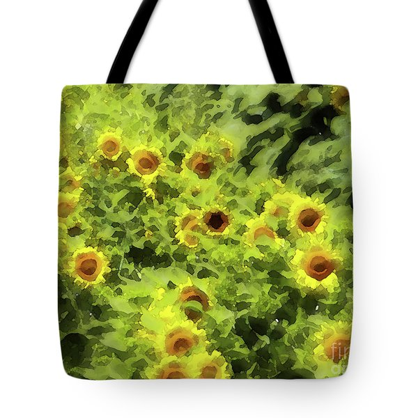 Fresh Sunflowers Tote Bag by Methune Hively