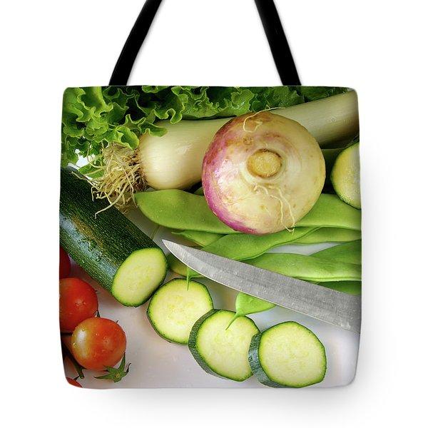 Fresh Vegetables Tote Bag by Carlos Caetano